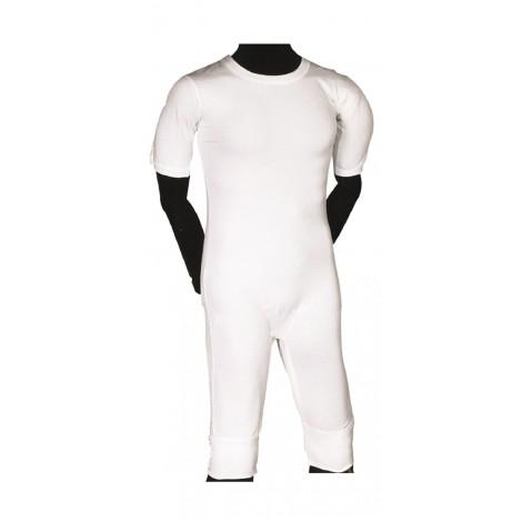 Grenouillere adulte coton blanc lavable taille S à XXL