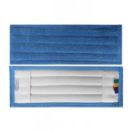 Frange microfibre bleue